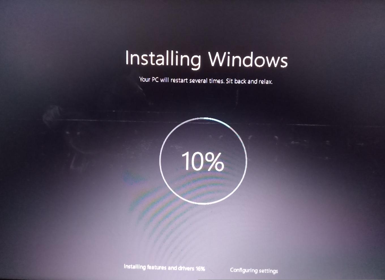 Windows stuck after